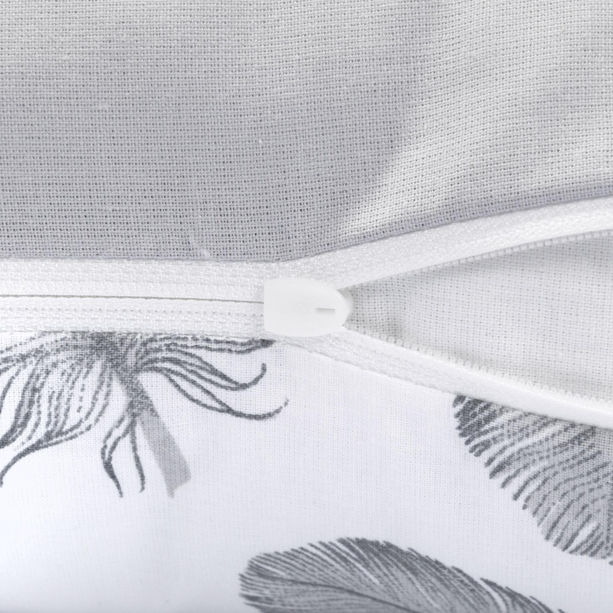 Amilian Kissen 40 x 60 cm mit Namen Datum Daune Grau Hellgrau